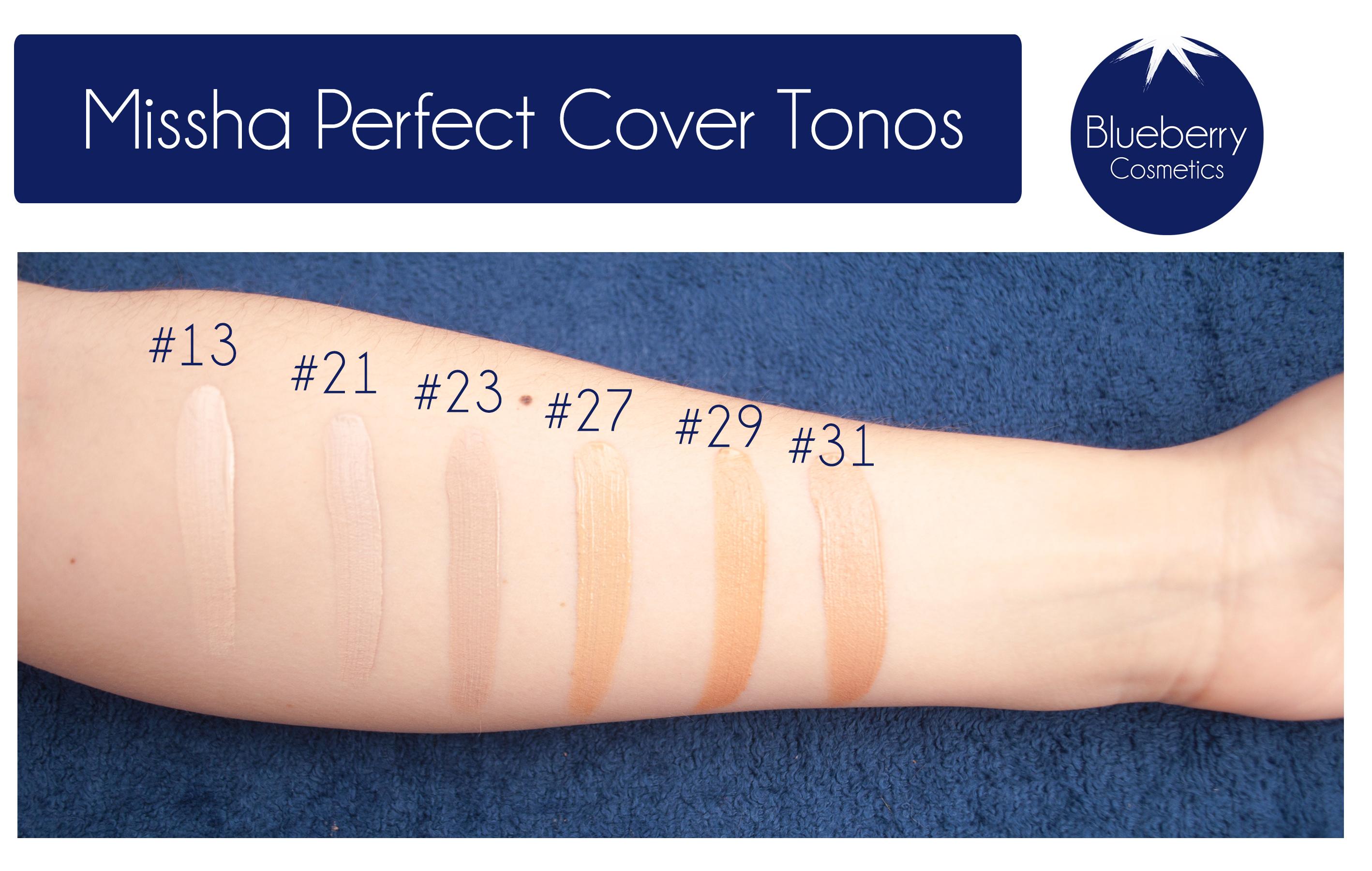 Missha Perfect Cover BB Cream tonos