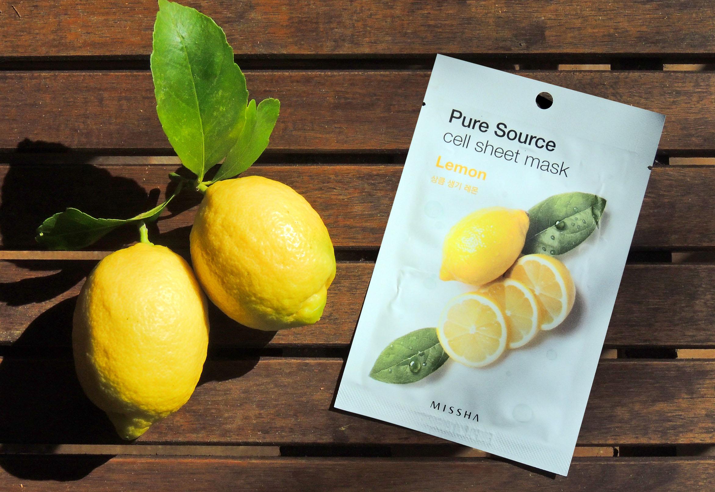 mascarilla limon Missha Blueberry Cosmetics