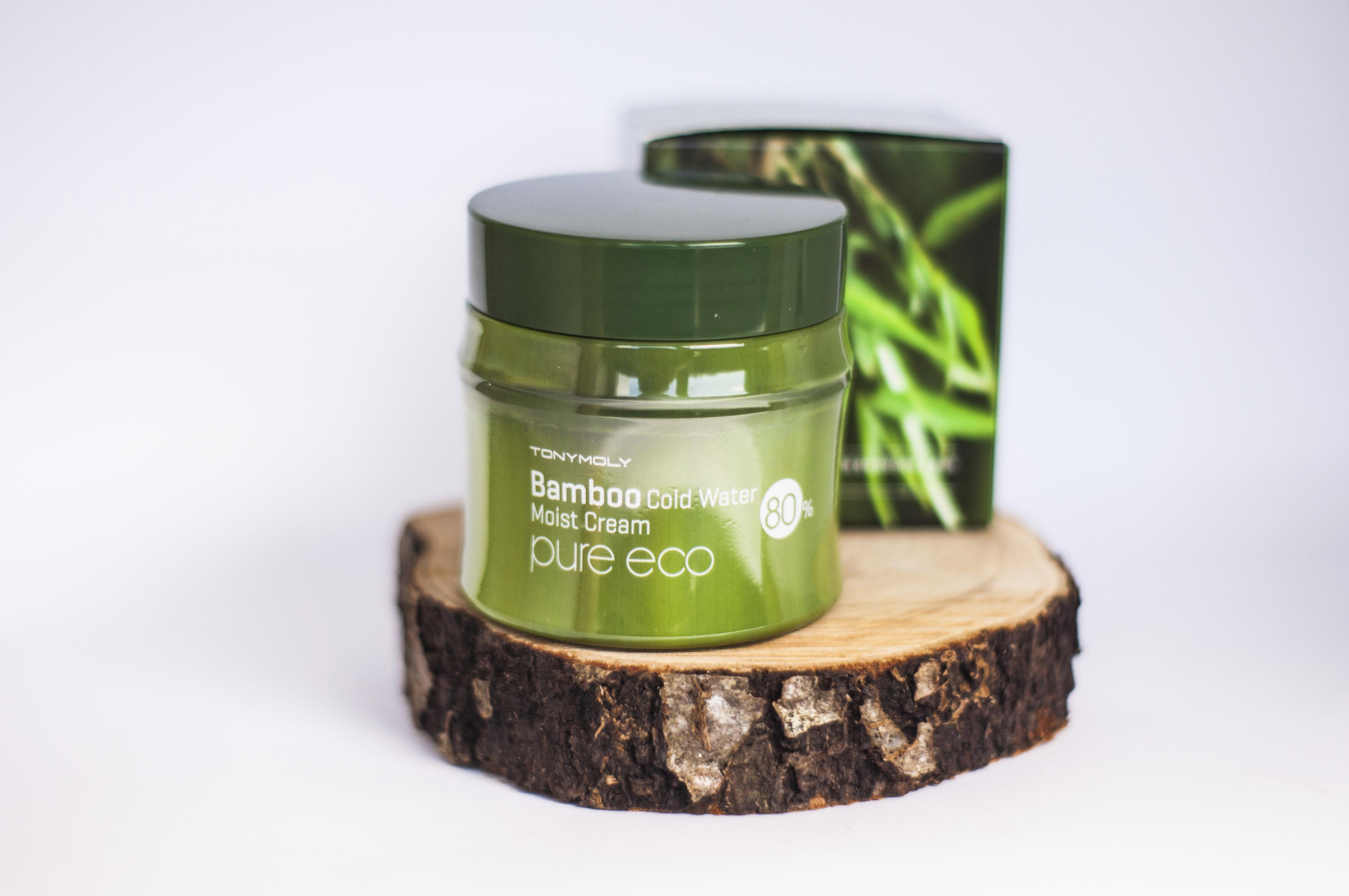 Tonymoly Bamboo Cold Water Moist Cream Blueberry Cosmetics